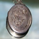 ANTIQUE STERLING LOCKET NECKLACE (L1)
