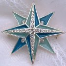VINTAGE LIZ CLAIBORNE RHINESTONE STAR BROOCH  (DES8)