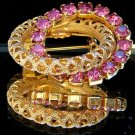 ANTIQUE PINK RHINESTONE BROOCH  (P8)