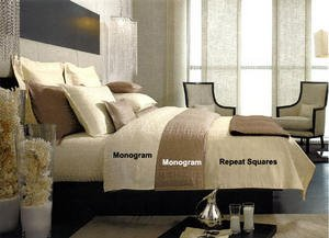 Kelly Hoppen Repeat Squares Boudoir  Sham by Sferra
