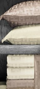 Kelly Hoppen Monogram Boudoir sham by Sferra