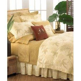 Tommy Bahama Island Etchings Queen Bedskirt panels