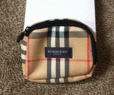 Burberry Golf Nova Check Tee/Coin Bag