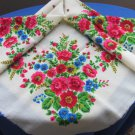 Vintage Ukrainian shawl, Floral Scarf ,russian floral scarf, head scarf, white shawl, wedding shawl,
