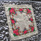 Russian style shawl, Vintage Ukrainian Scarf ,Russian Floral, floral scarf, beautiful Shawl, natural