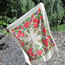Vintage White Wool Floral Babuska Shawl, Ukrainian White Shawl, Russian Floral Scarf, Floral White H