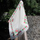 Vintage White Pure Wool Floral Bride Shawl, Ukrainian White Shawl, White Russian Floral Scarf, Flora