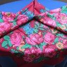 Vintage Ukrainian shawl, Russian Floral Scarf ,russian style shawl, floral scarf, beautiful Shawl, U