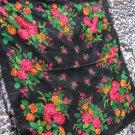 Huge Vintage Ukrainian shawl, Russian shawl, Wool shawl, Floral Shawl, Babushka Russian