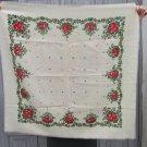 White wool head scarf, Vintage Wool White Shawl, Vintage Ukrainian Shawl, Russian Floral Scarf ,russ