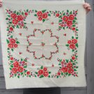 Vintage Wool White Shawl, Russian Floral Scarf, White head scarf, Vintage Ukrainian Shawl, USSR flor