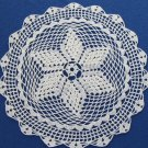 Crochet cotton lace, Crochet lace napkin, Cotton USSR napkin, Cotton lace doilies, Table doily, Vint