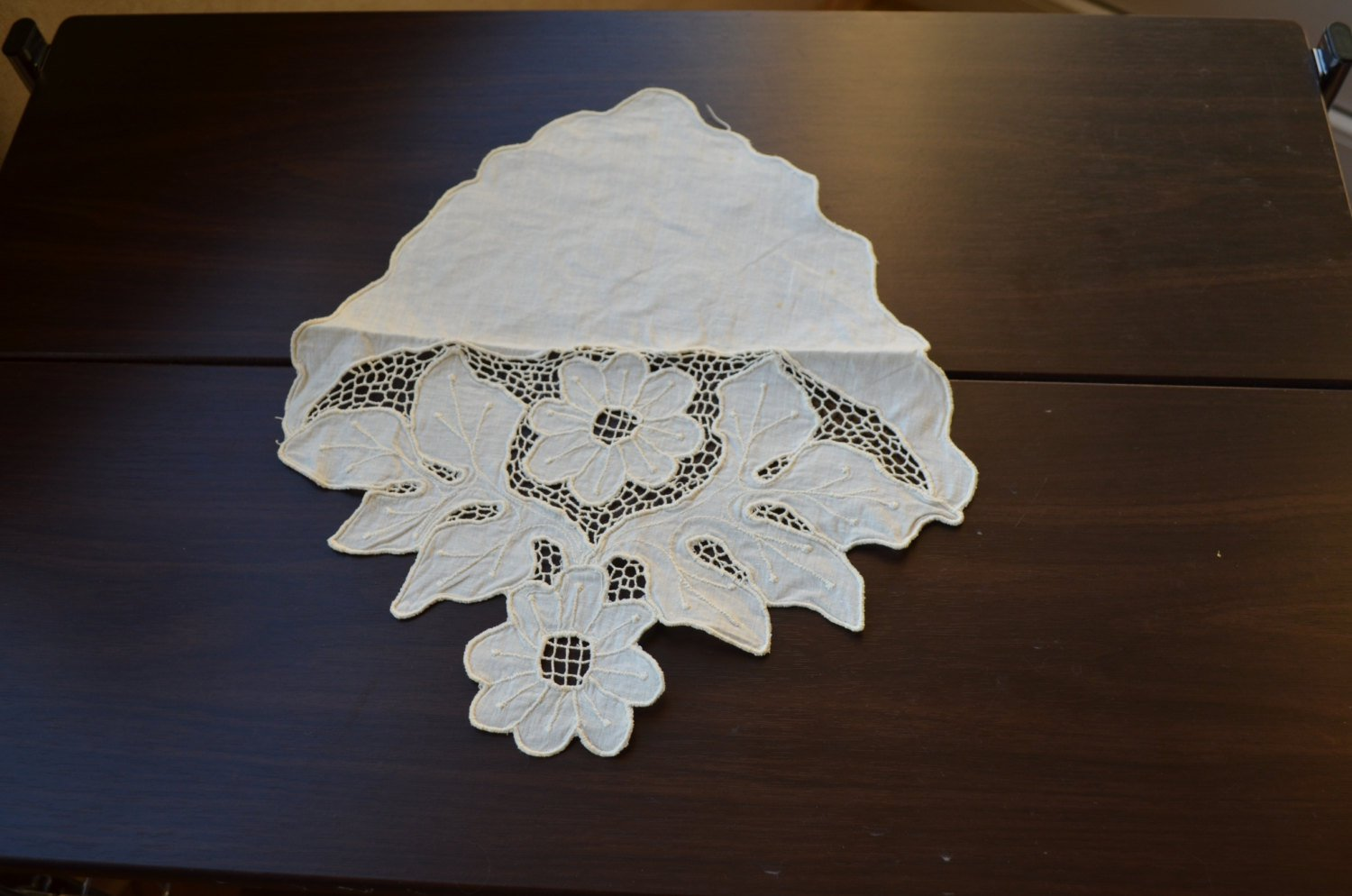 Vintage Decor Napkin for forniture from USSR 50s, Lace decor from USSR, table-napkin, napkin for dec