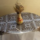 Brown Tablecloth Lace, Doilies Vintage Doily Runner Crocheted Lace, Rare Tablecloth Brown, brown tab