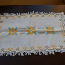 Vintage Handmade Napkin Cross Stitch, Needlepoint, Ukrainian style ornament, cross stich ornaments,