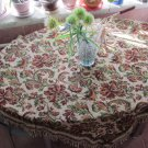 Vintage Germany Square Tablecloth, fringe edges, Wall Decor Carpet, German Decor for kithcen, Kitche