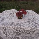 White Wedding Vintage Acrilic Tablecloth, Acrilyc Tablecloth, White wedding Tablecloth for Small Tab