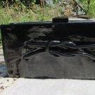 Black vintage Leatherette clutch bag, IPhone Black evening USSR clutch, Bridal clutch, Black clutch