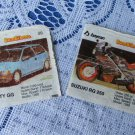 "BomBimBom old wrapperscollection, Almost all """"bycan"""" collection, Vintage Gum Wrappers with Cars pi"