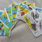 VIntage old Bublegum Wrappers Mickey Mouse, DIsney story gum wrappers, 8 vintage Mickey Mouse gum wr