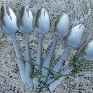 Vintage Soviet Aluminum 6 Spoons Set, Six Aluminum Spoons, Metal Spoon Set, Tablespoon Flatware, Hom