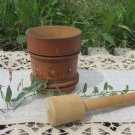 Wood Ukrainian mortar and pestle, Revamped wood mortar and pestle, rustic home decor, vintage mortar