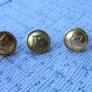 Vintage 21 Buttons Golden Color Metal Anchor Buttons, Vintage Anchor Button Set, Metal 21 military b
