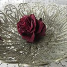 Vintage Filigree Metal Vase, Russian style Home decor Vase Filigree, Meatl Vase, Coockie jar Metal F