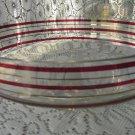 Vintage Salad Bowl on Stand, Glass cookie jar, ornamented punch plate on stand, Salad plate on stand