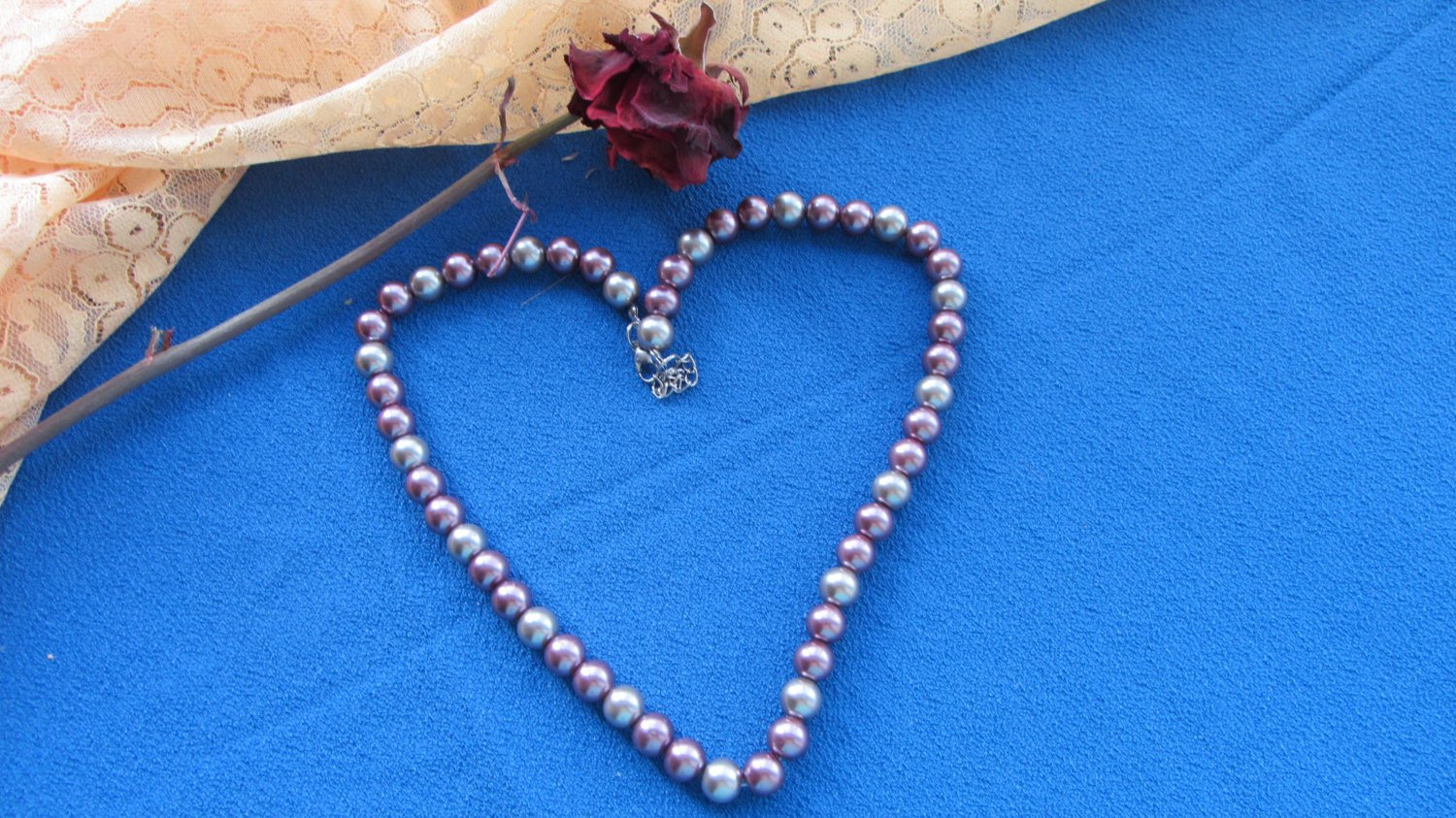 Elegant ivory and pink pearls necklace, bridal necklace, wedding necklace, wedding jewerly,