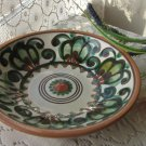 Majorka Ceramic painting plate, Ukrainian wide deep plate, Small Vintage ceramic plate, floral plate