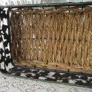 Mid Century Rattan Metal Jar Key Holder, Metal Tone Floral Modern Decor metal storrage, Retro candy