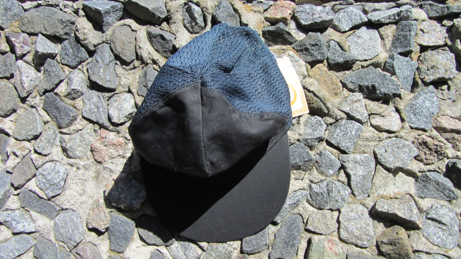 Black made in USSR Baseball Cap, low profile baseball cap with self fabric touch strap. Light weight
