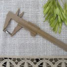 Plastic caliper for measuring beads, vintage plastic Brown Caliper, Measurement the length tool, Pla