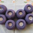 Purple Crochet Knitting Thread Skeins 100% Cotton, 8 Knitting supplies, Knitting supplies, Knitting