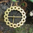 Round Ideal Condition Belt Buckle, Vintage Metal Belt Buckle Golden Metal, Belt Buckle Made of Round
