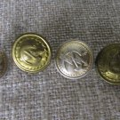 Vintage 4 Buttons Golden Color Metal hammer and sickle Buttons, Vintage hammer sickle Button Militar