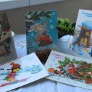 SALE!!! Vintage Christmas Post Cards from USSR, Soviet Union Christmass, Christmas gifts paperware