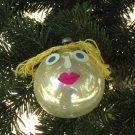 Antique Christmas handmade silver ball decor, Vintage Handmade Christmas Ornament Set, Silver ball x