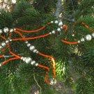 Antique Necklace Christmas decor, Vintage Christmas Necklace Ornament, Xmas Toy ornament, Necklace C