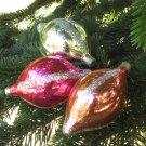 Vintage Christmas Ornament Set, glass 3 balls set ornament, Antique Christmas decor, Christmas ornam