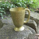 Wide midcentury lookind Mug with curved patterns, Dark Gold color Goblet Curved For Beer, Game of th