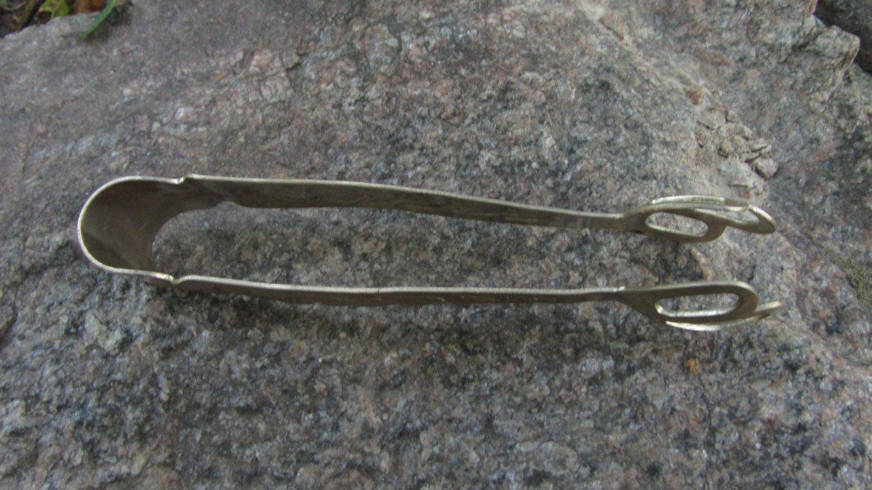 Vintage Silver colored sugar tongs, Vintage tableware Metal sugar tongs, Sugar nips, Sugar pincers,