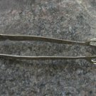 Vintage Silver colored sugar tongs, Vintage tableware Metal sugar tongs, Sugar nips, Sugar pincers,