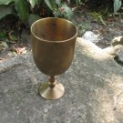Small Light Golden Shot glass/cup for vodka, Metal Golden midcentury lookind shot cup, Game of thron