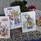 Set of Four Cute Fancy and Lovely Animals USSR Christmas Greatings Post Cards New and Never Been Use