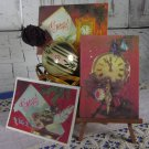Set oF Three New Unused Photo Collage USSR Christmas Post Cards Gift, Classic USSR Era Post cards fo