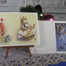 Set of Two Big and Awesome Fancy NEW Unused USSR Classic Postcards for Christmas Greeting, New Year