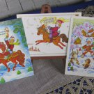 Three CLassic Winter Christmas Pictures of Zhukova, Never Been used NEW Post Cards for Christmas Tim