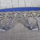 2 Small Wall Rack Hooks USSR 1970s, Soviet Vintage Aluminium Clothes Hook, Clothes hangers, DIY Proj